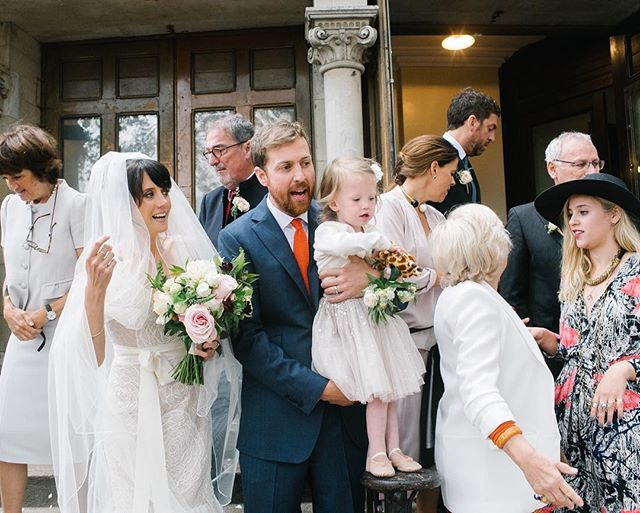 "I love the chaos before the ""formal"" group shot. Just as special. #roundchapelhackney #londonwedding #verawang #verawangbride #londonweddingphotography"