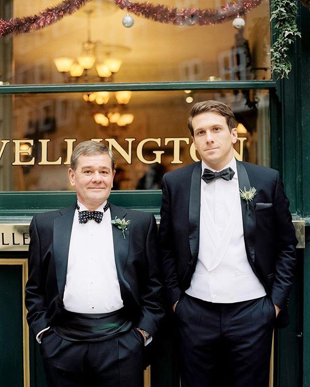 FATHER & SON .... #claridgeswedding #londonwedding #kodak #portra #contax645 #mayfairwedding #englishwedding