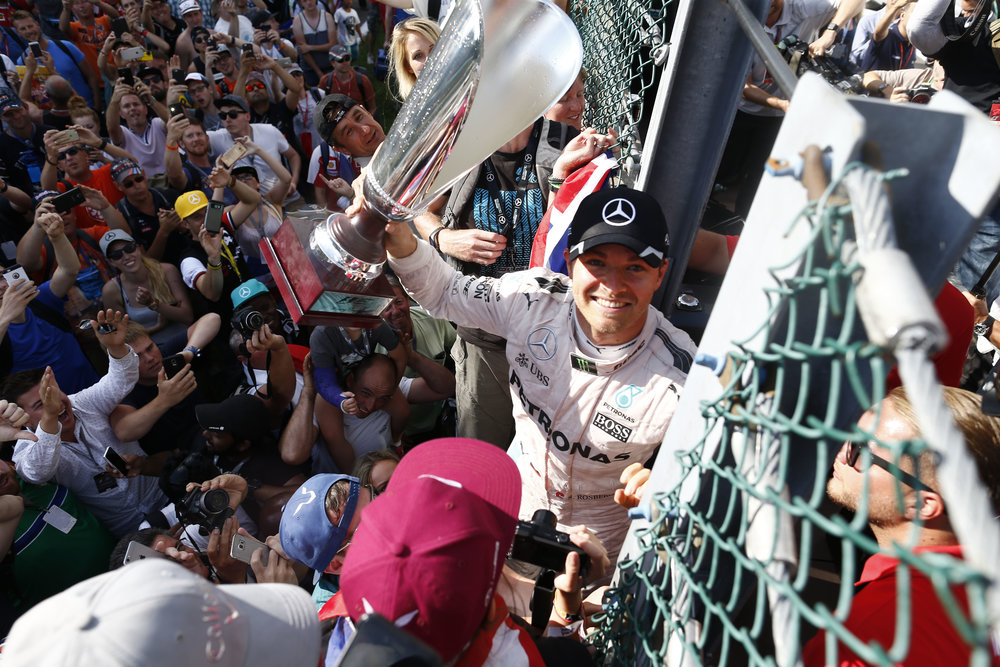 Rosberg won in Belgium, but Lewis had ALL THE PENALTIES. (Pic: Mercedes)