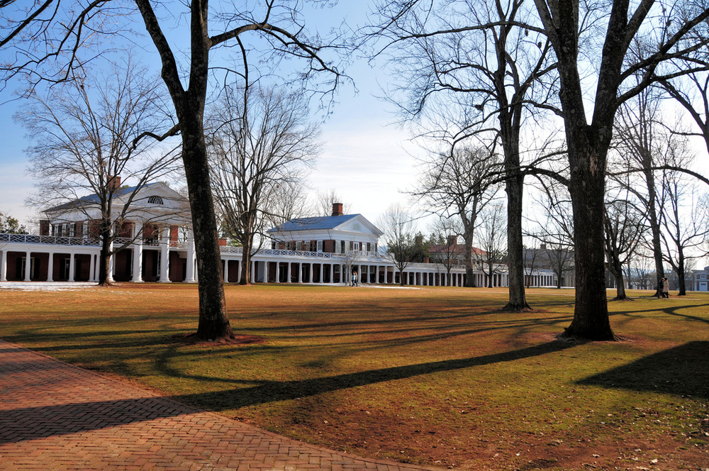The 46th East Lawn at the University of Virginia where Kappa Sigma was first founded.