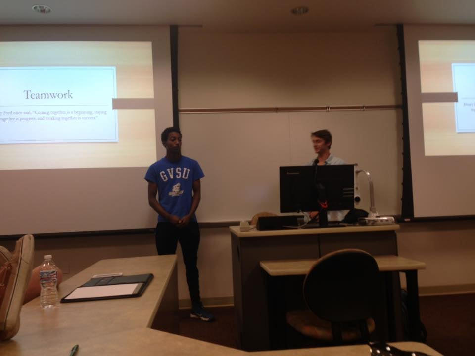 Brothers Aaron Tellis and Tommy McDonald presenting at our summer Brotherhood Retreat