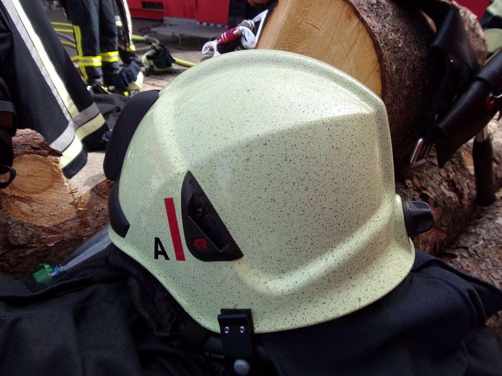 So sah der Helm aus nachdem wir das erste mal drin waren. 2 weitere Durchgänge folgten danach noch