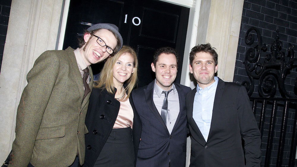 Adele Parks with Scouting For Girls at 10 Downing Street