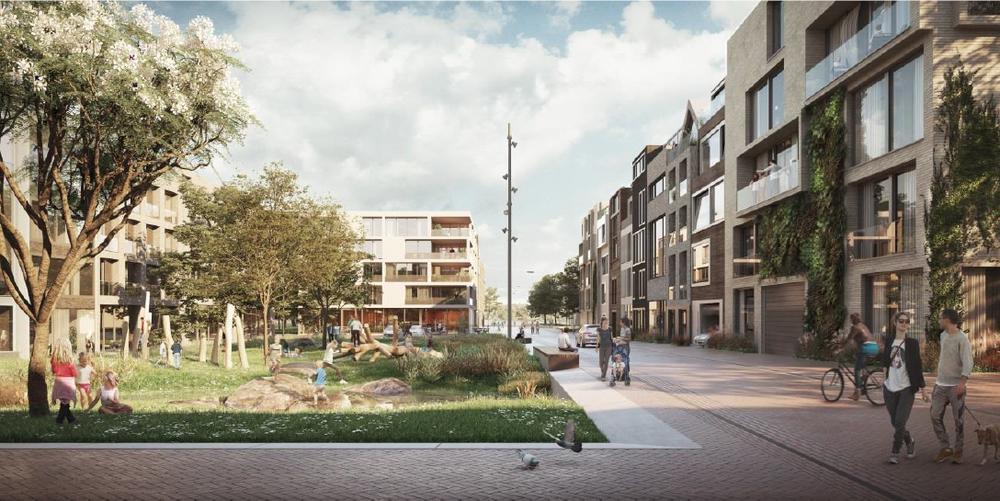 Impressie van IJburg Centrumeiland, gemeente Amsterdam