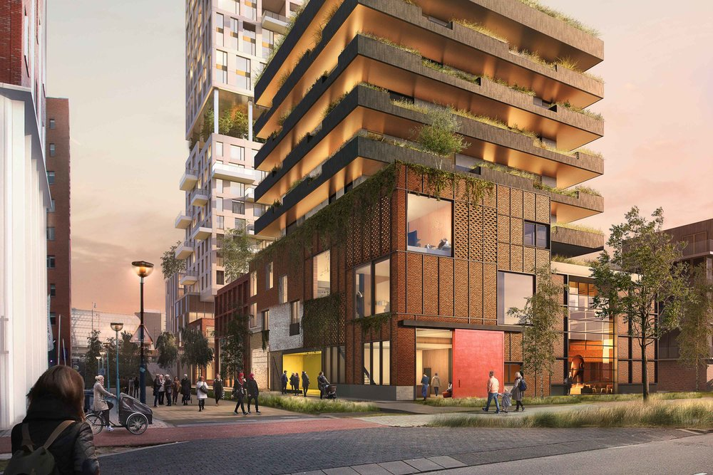 Sloterdijk kavel N: Competition entry for two housing blocks of 20.000 m2