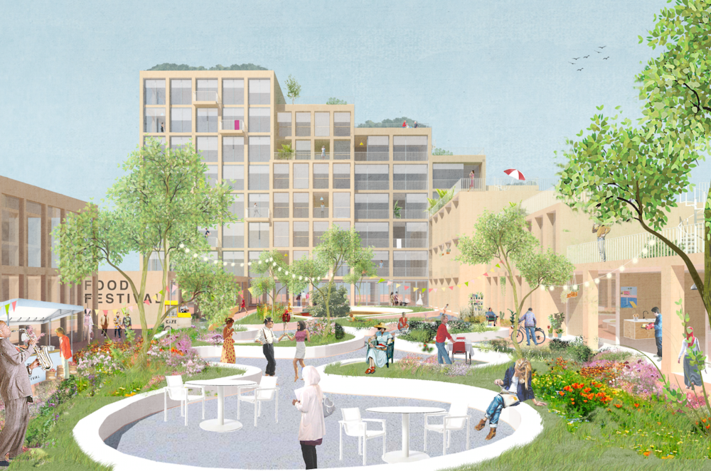 BSH 4ALL: Invited competition for a housing block in Buiksloterham by Ymere