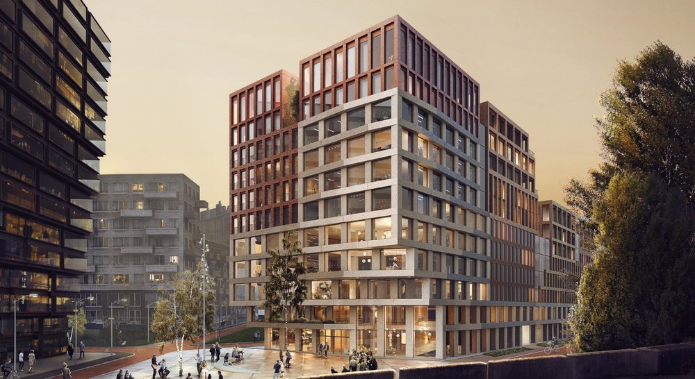 Kop Zuidas: Competition entry for a mixed-use building of 20.000 m2