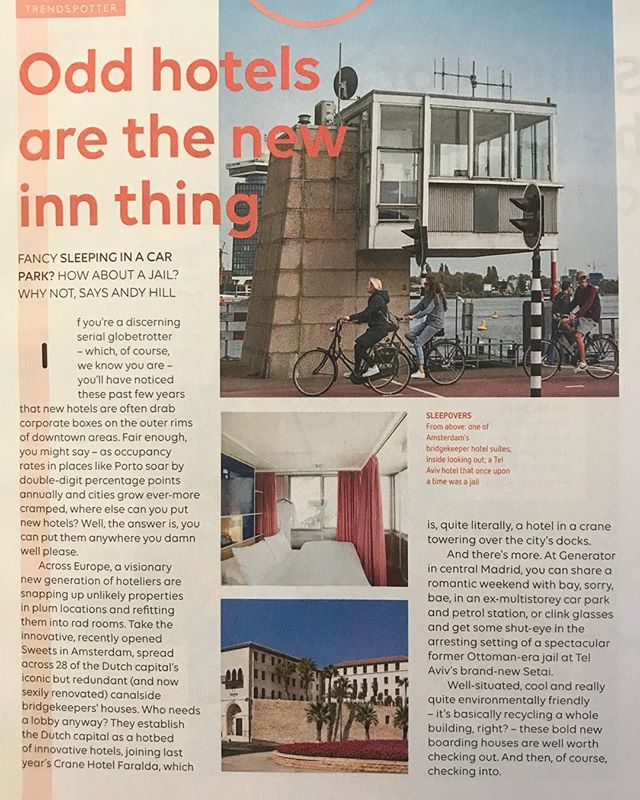Nicely surprised to see our @sweets_hotel #amsterdam in the #easyjet magazine.