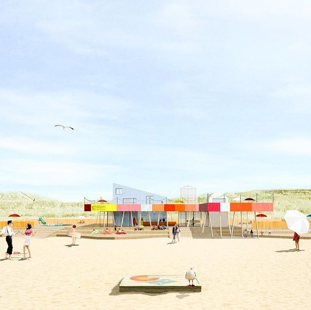 Another unbuilt project from the past. #sustainable #beachclub #castricumaanzee #architecture #summer #beach #unbuiltarchitecture #2015