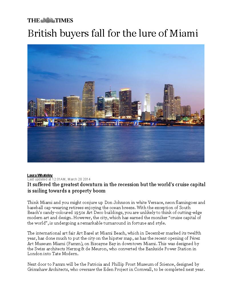 The Times (Online) - British buyers fall for the lure of Miami, 3-28-14_Page_1.jpg