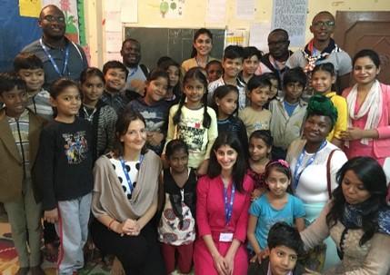 At the Pratham learning centre in Delhi