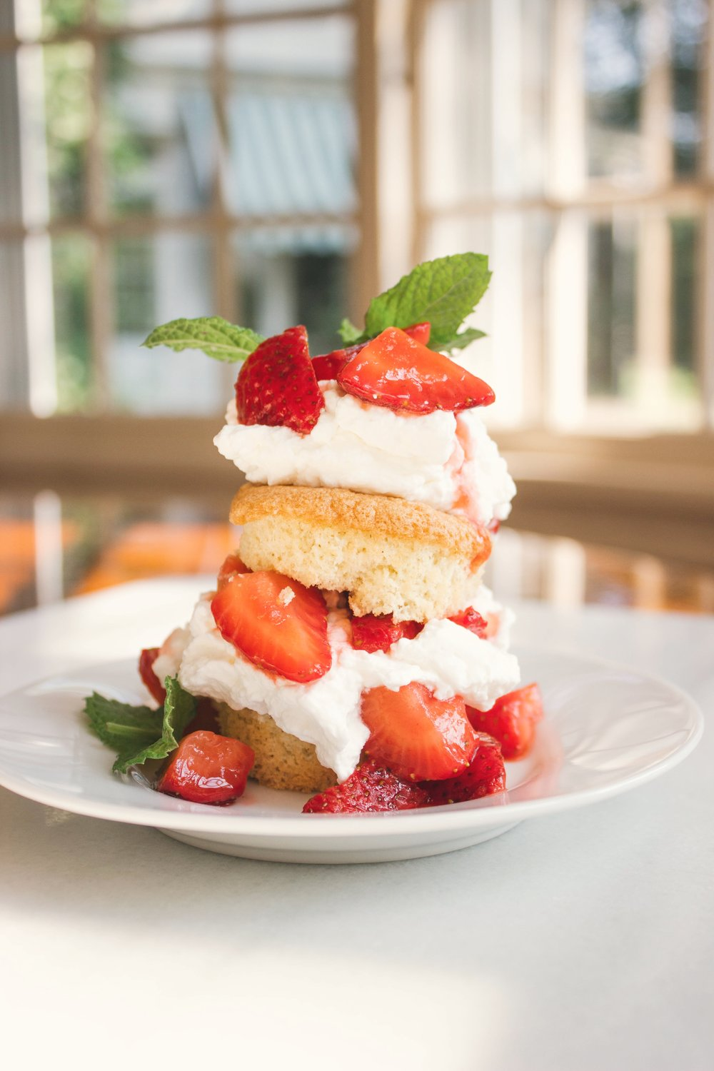"""or… my personal favorite, an individual strawberry shortcake """"mini"""" made with sponge cake cupcakes."""