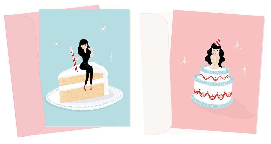Birthday Baby (Blue) and (Pink) | A2 sized greeting cards