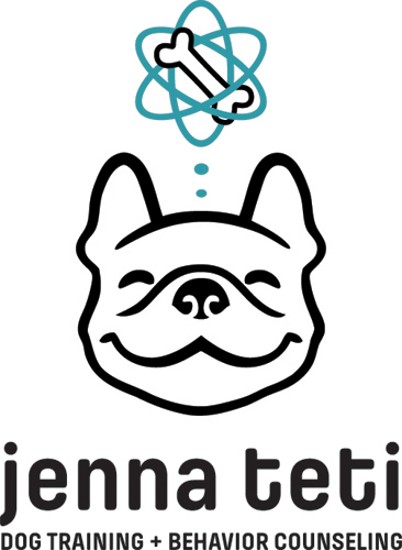 Jenna Teti Dog Training logo + wordmark