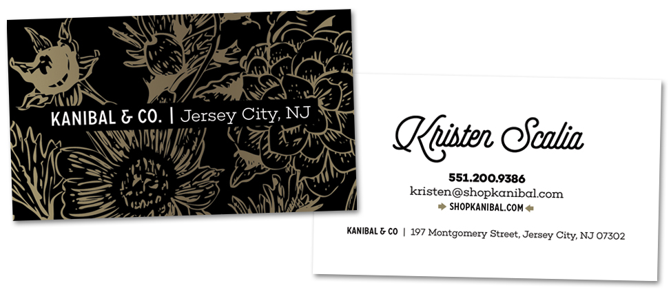 Kanibal co identity she can lift a horse business card design reheart Choice Image