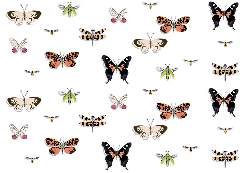 Pattern design for Insect Shoppe social media