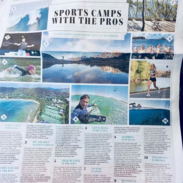 Whoop whoop! At No 6. on the @telegraph Sport Camps with the Pros 🌊 🏄‍♀️ yes, this summer it's all about getting active on water and land with @courtintheact & I  #sliceoflife  #mytelegraph #fitness #kitesurfing