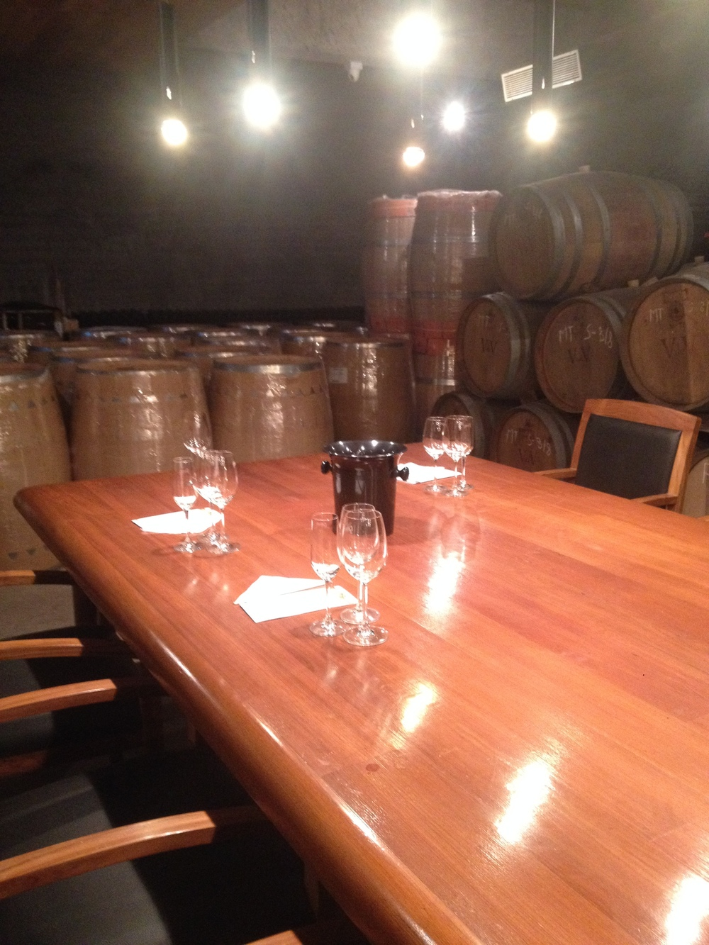 Tasting room at Grover Zampa