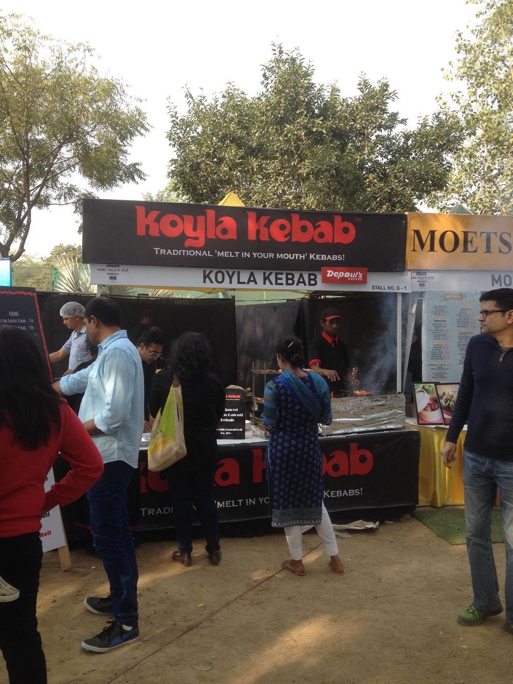 Koyla Kebabs churning out Kebab rolls like clock work