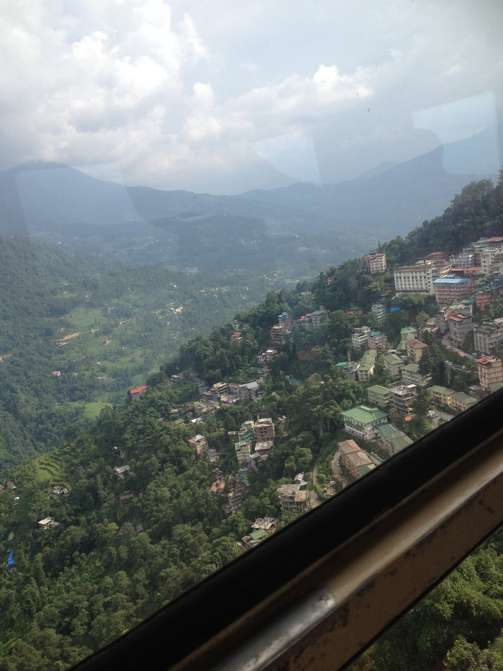 View of Gangtok from the Cable Car