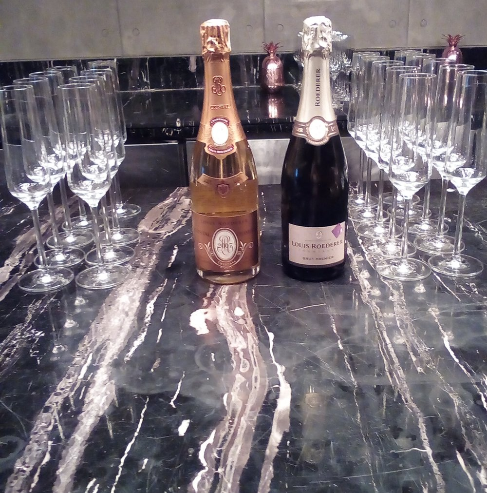 Cristal 2009 on the Left, Louis Roederer Brut NV on the right.