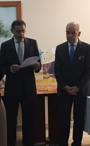 H.E. Mr. Demetrios A. Theophylactou, High Commissioner of the Republic of Cyprus to India with H.E. The Ambassador of Greece to India