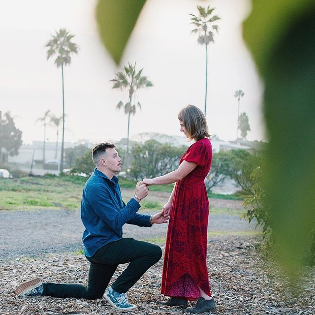 No, he didn't really need to tie his shoe.  Sweet engagement for Maddie and Sam ❤️