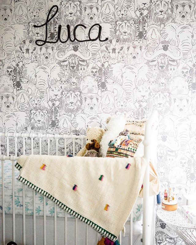 Casey makes one heck of a cute nursery and an even cuter kid! Love this animal wallpaper 💙🦁 #lucasroom . . . . . . . #nurseryinspo #boynursery #wildthings #wherethewildthingsare #newbornphotographer #sandiegonewbornphotographer #encinitasnewbornphotographer #newbornlifestyle #lifestylenewbornphotography #lionsandtigersandbearsohmy #solanabeachphotographer #delmarphotographer #carlsbadphotographer #animalwallpaper #kidsroominspo #100layercakelet #wildthingyoumakemyheartsing