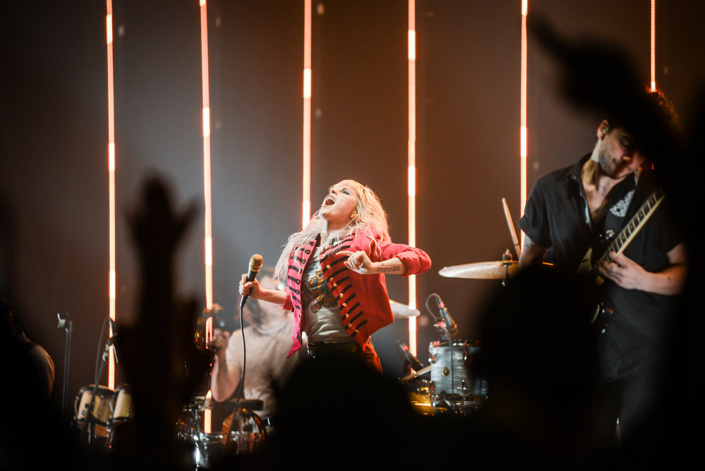 Paramore performs at Rimrock Auto Arena at MetraPark in Billings, MT on Aug. 12, 2017.