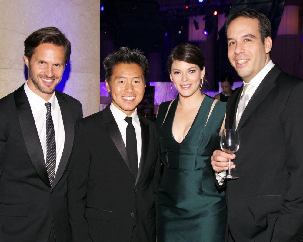 Craig Koch, UNICEF Ambassador Vern Yip, Gail Simmons and Jeremy Abrams © 2014 Julie Skarratt Photography Inc./U.S. Fund for UNICEF