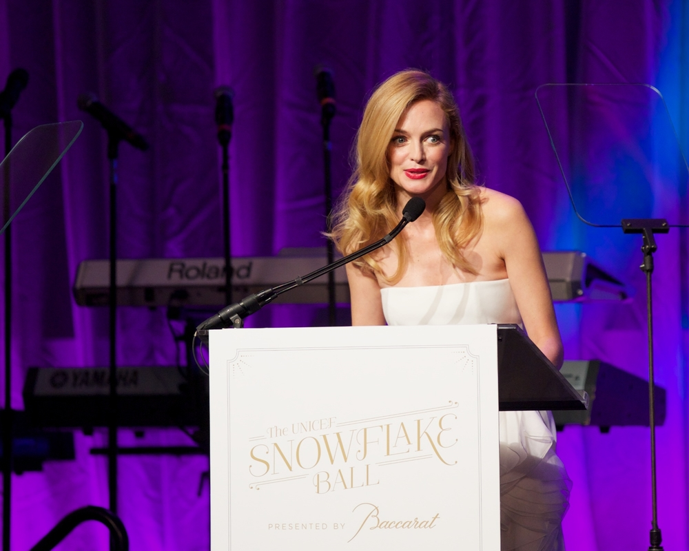 Heather Graham © 2014 Julie Skarratt Photography Inc./U.S. Fund for UNICEF