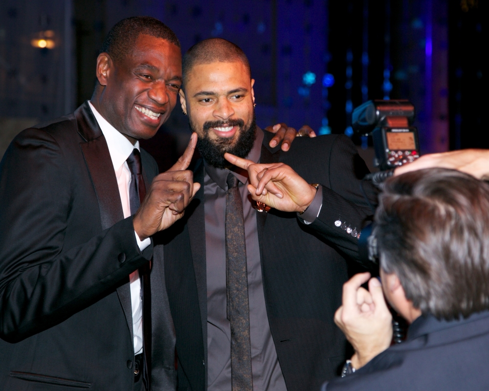 Youth Emissary for the United Nations Development Program, Dikembe Mutumbo, and UNICEF Ambassador, Tyson Chandler