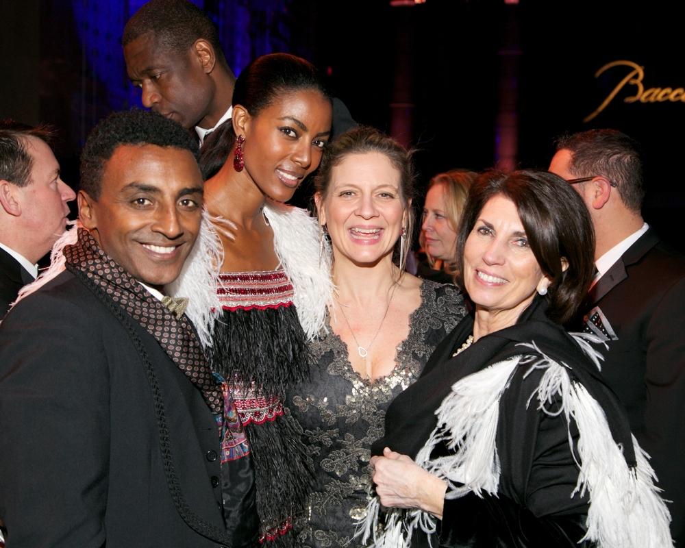 UNICEF Ambassador Marcus Samuelsson, Maya Samuelsson, Amanda Freitag, and Pamela Fiori