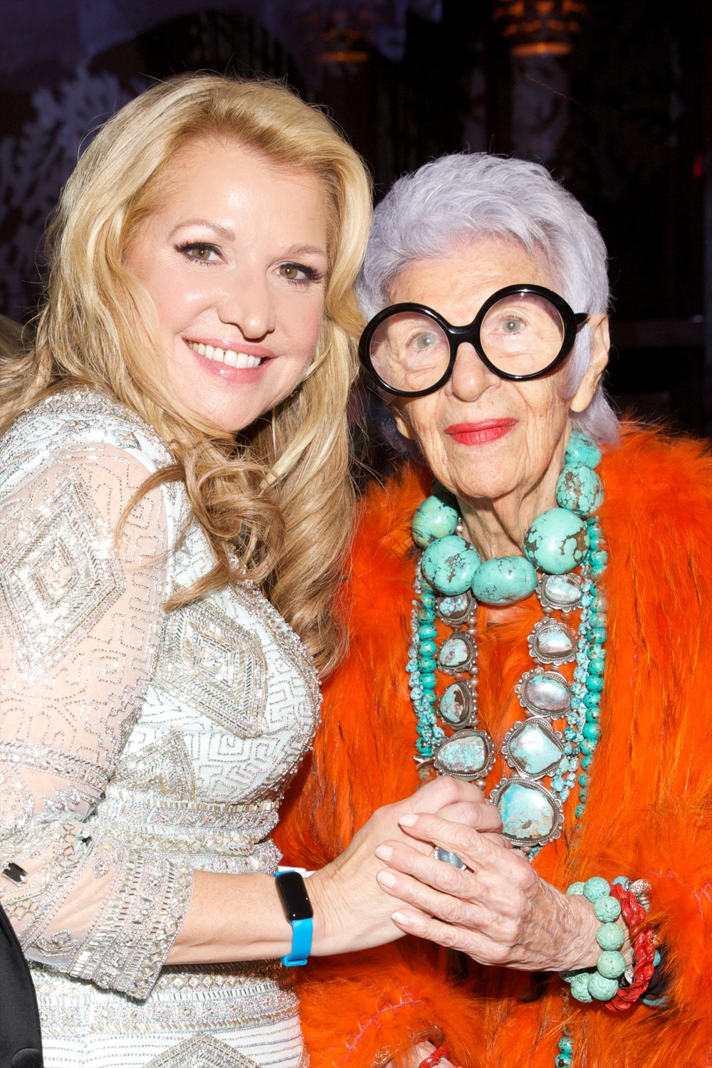 Mindy Grossman and Iris Apfel ©2015 Julie Skarratt Photography, Inc./U.S. Fund for UNICEF