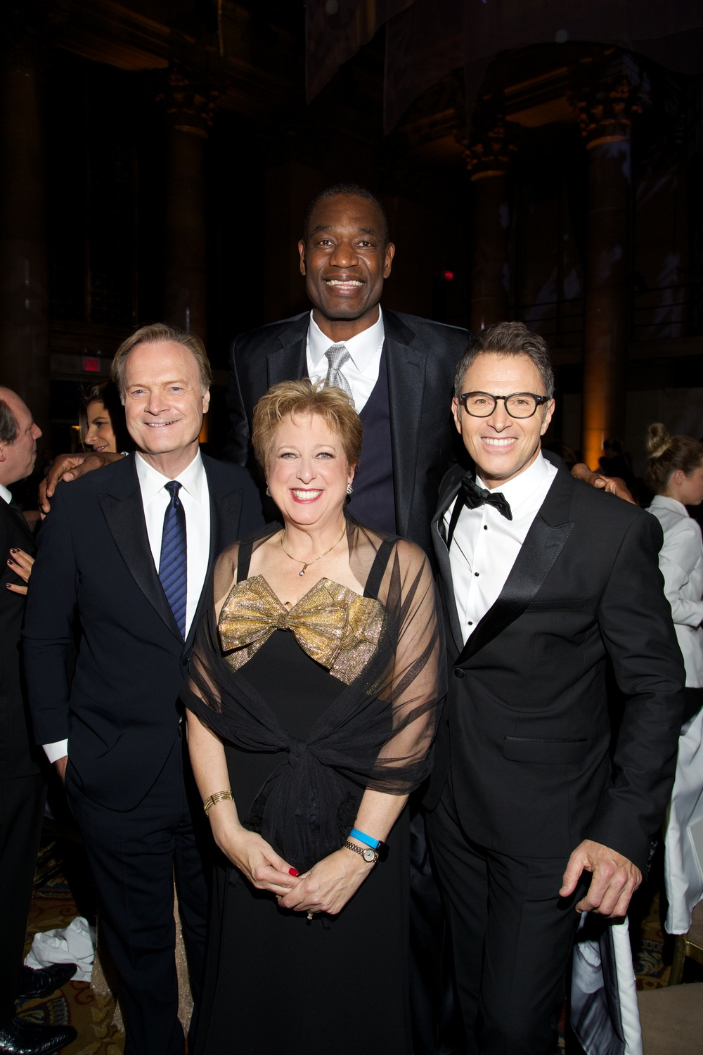 UNICEF USA President & CEO Caryl M. Stern, Lawrence O'Donnell, Dikembe Mutombo and Tim Daly ©2015 Julie Skarratt Photography, Inc./U.S. Fund for UNICEF