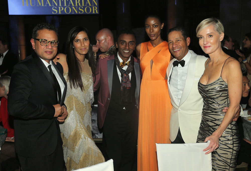 Naeem Khan, Padma Lakshmi, UNICEF Ambassador Marcus Samuelsson, Maya Samuelsson, Bryant Gumbel and Hilary Gumbel ©2015 Jemal Countess/Getty Images for UNICEF