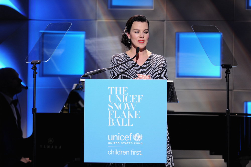 UNICEF Snowflake Ball Emcee Debi Mazar ©2015 Jemal Countess/Getty Images for UNICEF