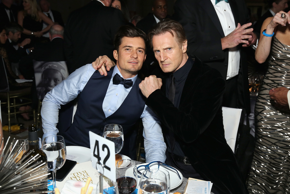UNICEF Goodwill Ambassadors Orlando Bloom and Liam Neeson ©2015 Cindy Ord/Getty Images for UNICEF