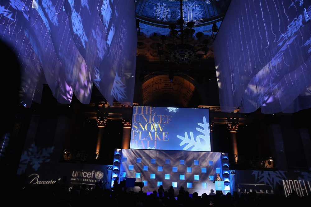 Decor at the 11th Annual UNICEF Snowflake Ball ©2015 Jemal Countess/Getty Images for UNICEF