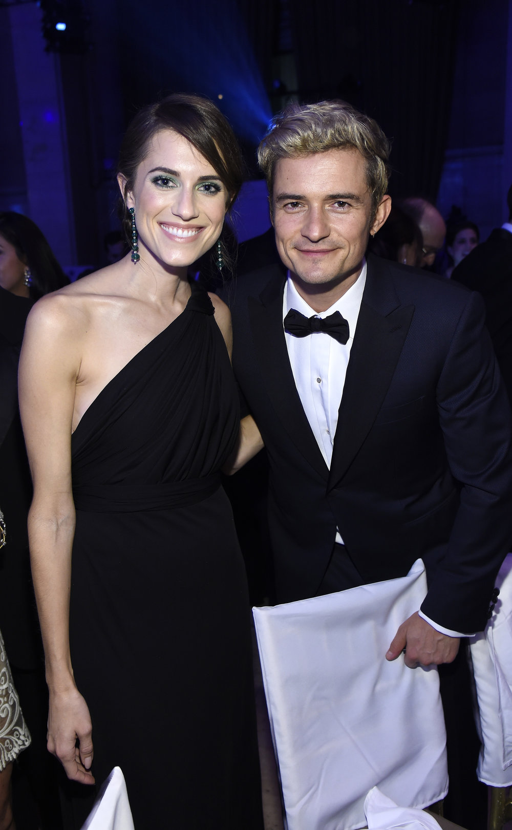 Allison Williams and Orlando Bloom attend the 12th annual UNICEF Snowflake Ball at Cipriani Wall Street on November 29, 2016 in New York City. (Photo by Kevin Mazur/Getty Images for UNICEF )