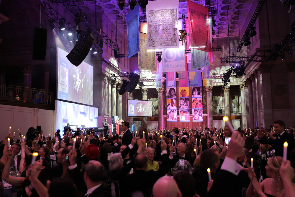 A view of the 12th annual UNICEF Snowflake Ball at Cipriani Wall Street on November 29, 2016 in New York City. (Photo by Neilson Barnard/Getty Images for UNICEF)
