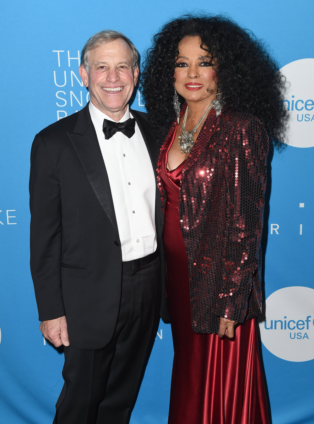 Peter Lamm and Diana Ross attend the 13th Annual UNICEF Snowflake Ball 2017 at Cipriani Wall Street on November 28, 2017 in New York City. (Photo by Nicholas Hunt/Getty Images for UNICEF)