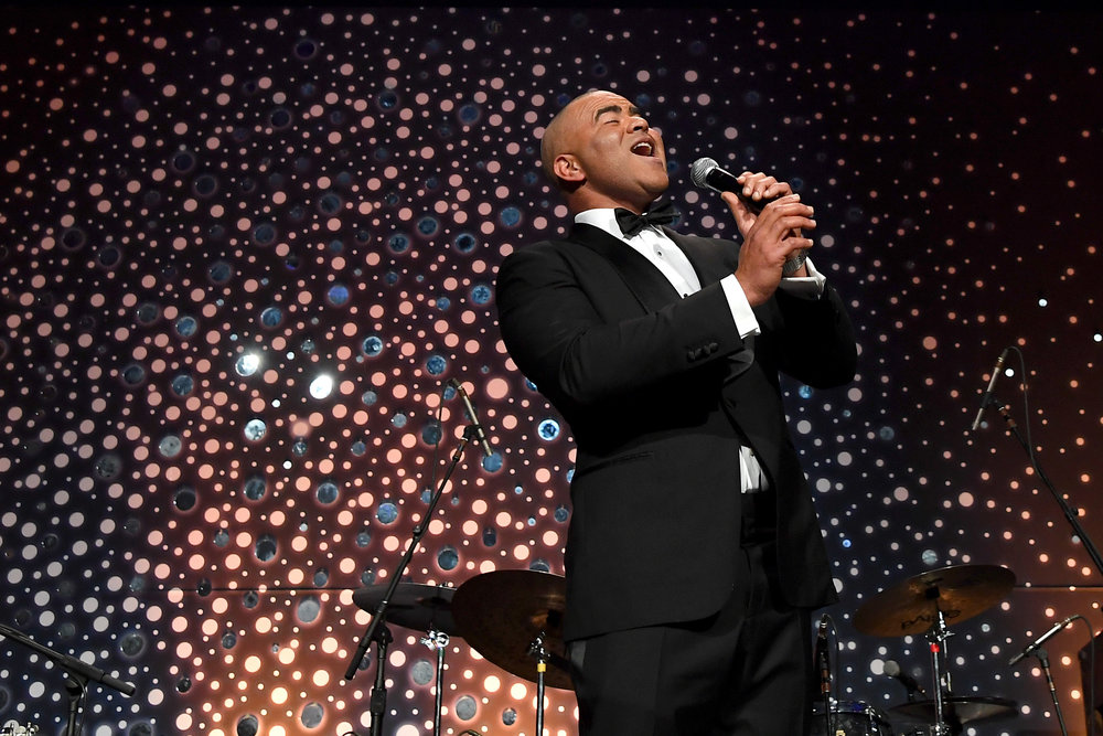 NEW YORK, NY - NOVEMBER 27: Christopher Jackson performs onstage during the 14th Annual UNICEF Snowflake Ball 2018 on November 27, 2018 in New York City. (Photo by Nicholas Hunt/Getty Images for UNICEF)