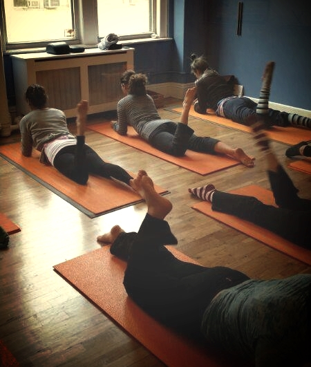 Mat Class at Kinected Pilates Center in NYC