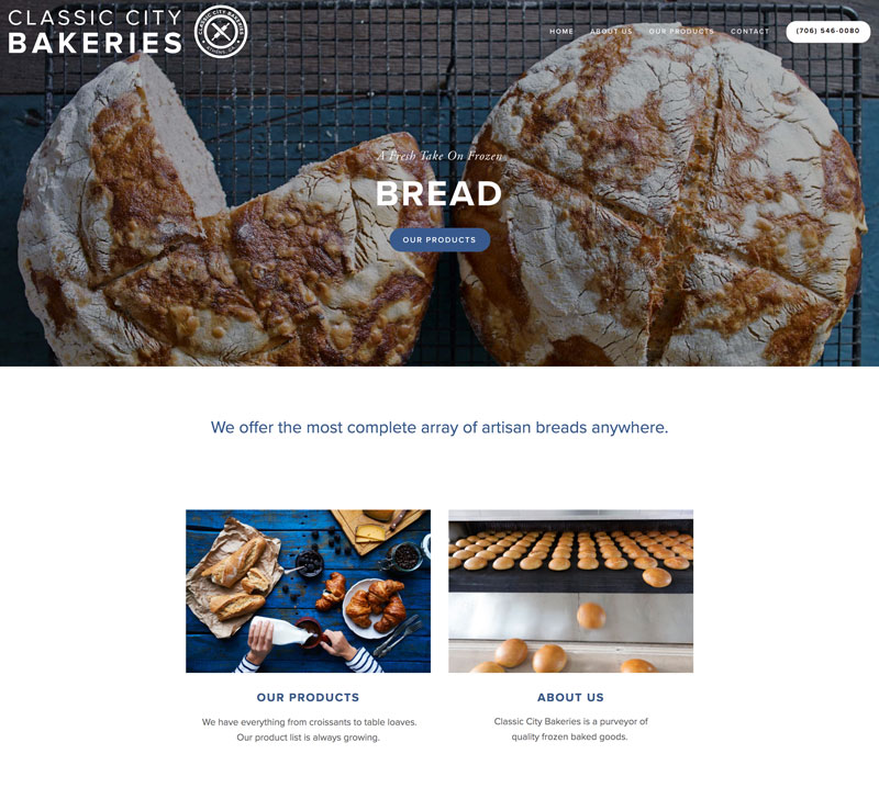 CLASSIC CITY BAKERIES (web design, photography, & copywriting)