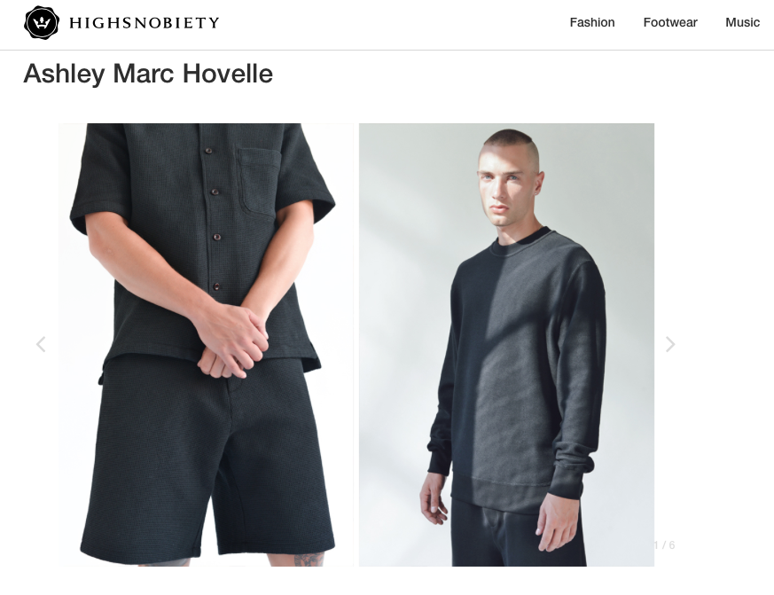 ASHLEY MARC HOVELLE | WAFFLE | SHORT SHIRT SWEATSHIRT | BLACK