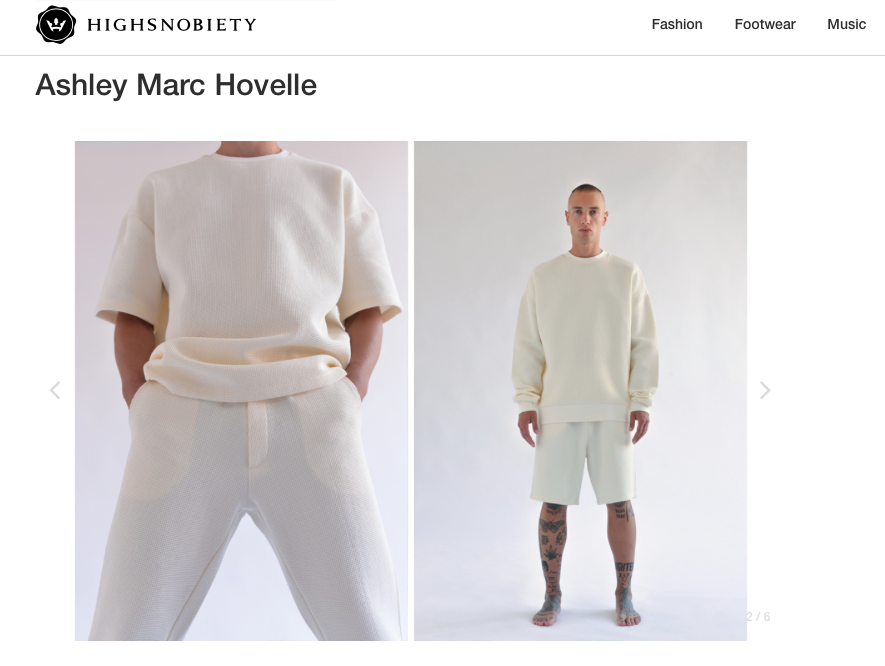 ASHLEY MARC HOVELLE | WAFFLE | TROUSERS SHORTS T-SHIRT SWEATSHIRT | OFF WHITE