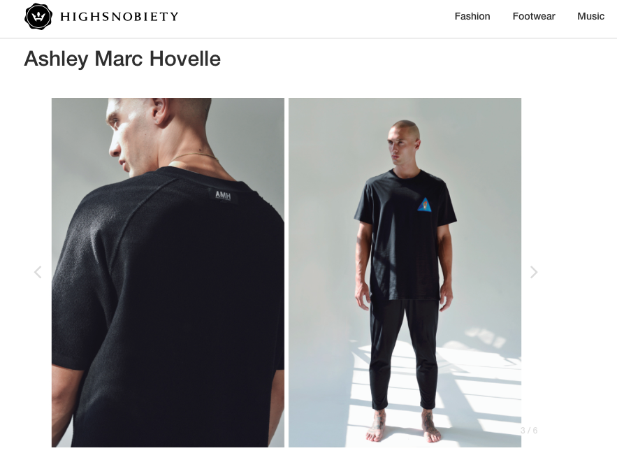ASHLEY MARC HOVELLE | ESSENTIAL | BOWING BADAGE T-SHIRT | BLACK