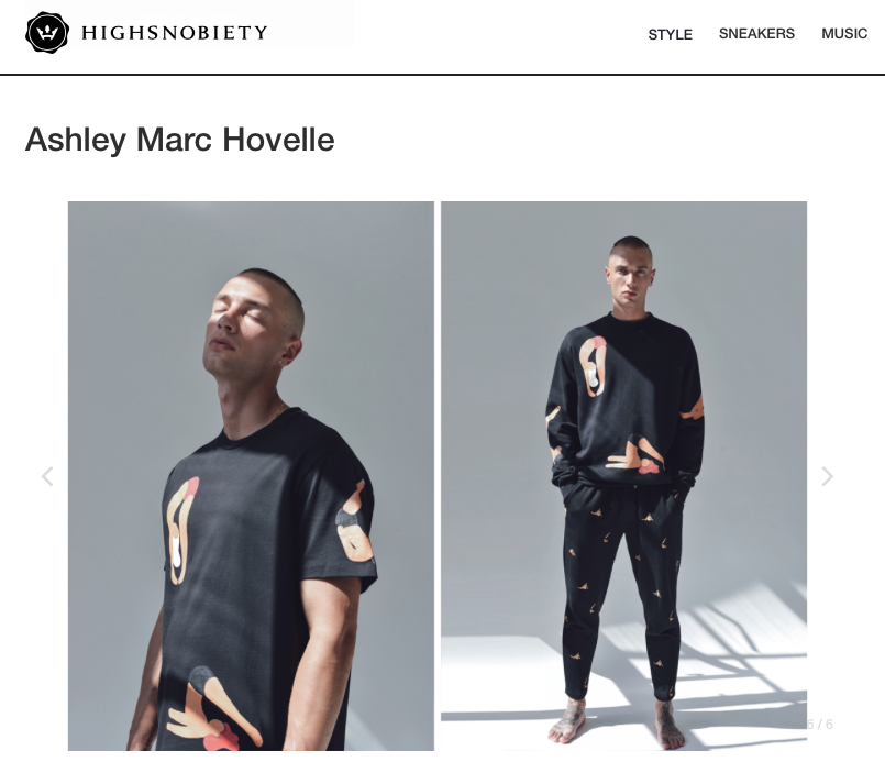 ASHLEY MARC HOVELLE | BIG YOGI'S T-SHIRT SWEATSHIRT | BLACK