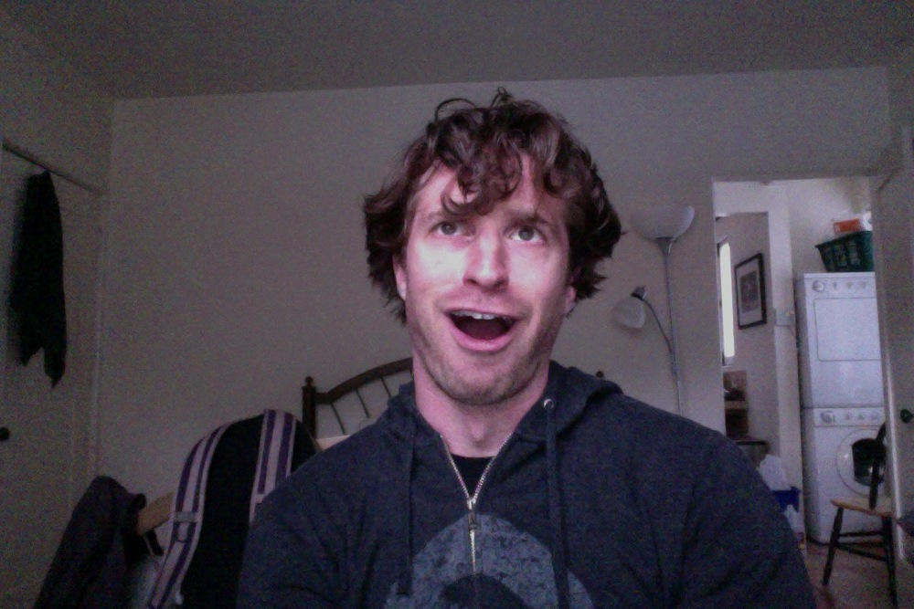 My wordless Andy Samberg impression.
